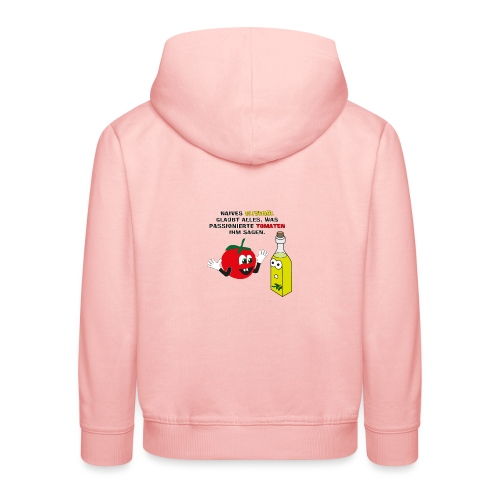 Tomate und Olivenöl - Kinder Premium Hoodie