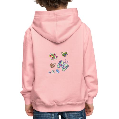 Allegria di farfalle - Felpa con cappuccio Premium per bambini