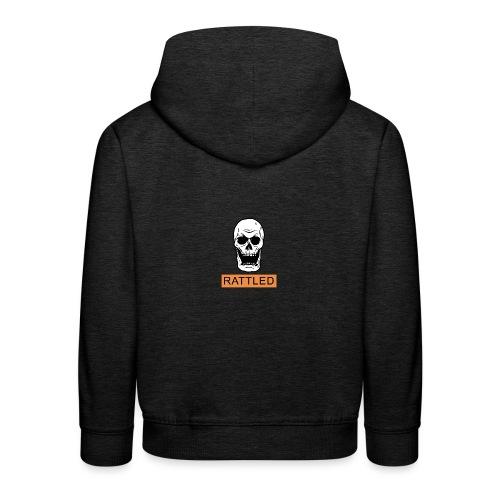 Rattled Spooky Halloween Skeleton Meme - Kids' Premium Hoodie
