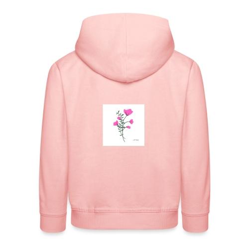 fleure violette - Pull à capuche Premium Enfant