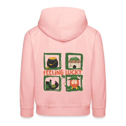 feeling lucky - stay happy - St. Patrick's Day - Kids' Premium Hoodie
