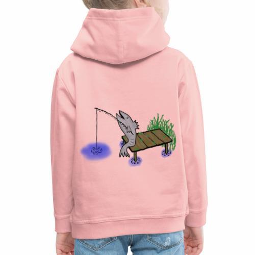 Fisch, Angler,Teich - Kinder Premium Hoodie