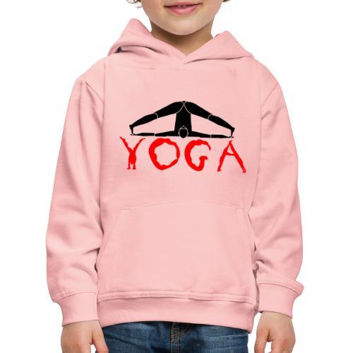 yoga yogi nero pace amore namaste sport art - Felpa con cappuccio Premium per bambini