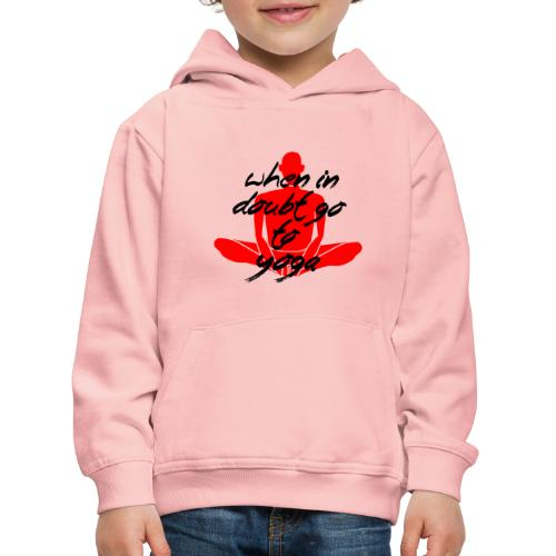 vai allo yoga yogi namaste pace amore hippie art - Felpa con cappuccio Premium per bambini
