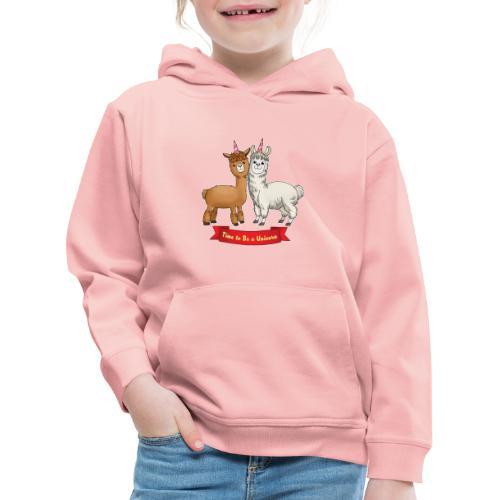 Time to Be a Unicorn 12x14 CMYK - Kinder Premium Hoodie