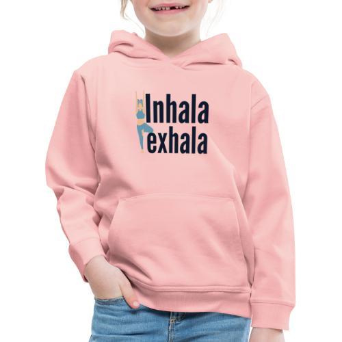 Inhala y exhala - Sudadera con capucha premium niño