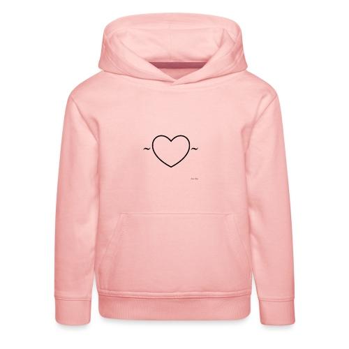Heart Shirt - Kinderen trui Premium met capuchon