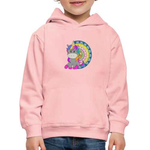 Unicorno Mandala - Felpa con cappuccio Premium per bambini