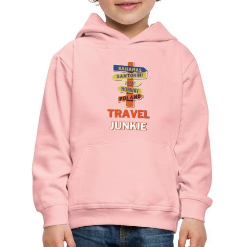 traveljunkie - i like to travel - Kinder Premium Hoodie