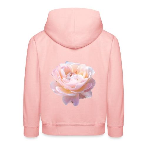 A pink flower - Kids' Premium Hoodie