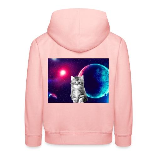 Cute cat in space - Lasten premium huppari