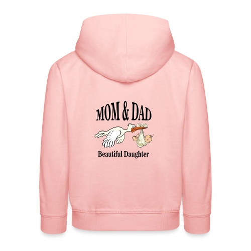 Beautiful Daughter Mom - Kinderen trui Premium met capuchon