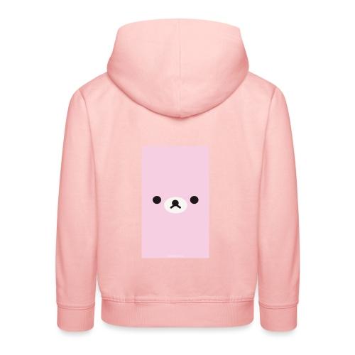 Cute Pink Bear Merch - Kids' Premium Hoodie