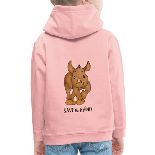 Save the Rhino - Kids' Premium Hoodie