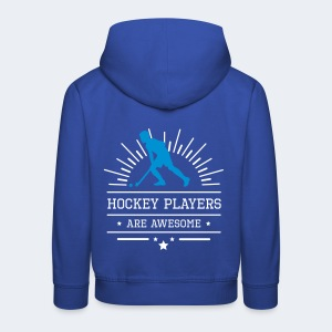 Hockeyplayers are Awesome , blue - Kinder Premium Hoodie