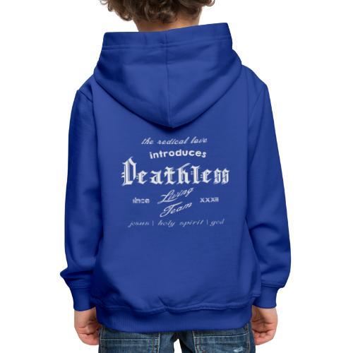 deathless living team grau - Kinder Premium Hoodie