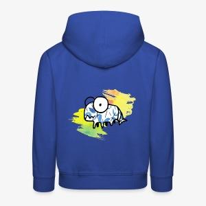 dziwny stworek akwarele - Bluza dziecięca z kapturem Premium