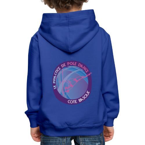 Logo poledance violet - Pull à capuche Premium Enfant