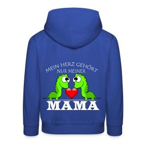 Dino herz mama - Kinder Premium Hoodie