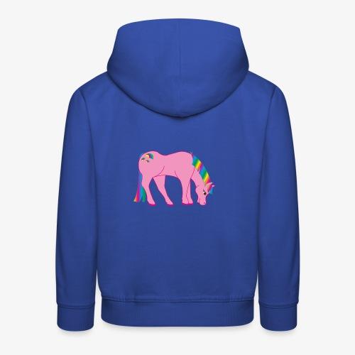 Regenbogen Pferd - Kinder Premium Hoodie