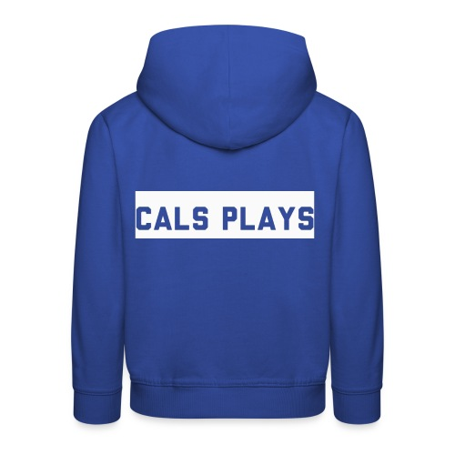 Cals Plays Text White - Kids' Premium Hoodie