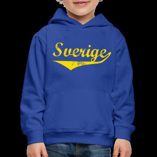 T-shirt Slim fit, Sverige distressed - Premium-Luvtröja barn