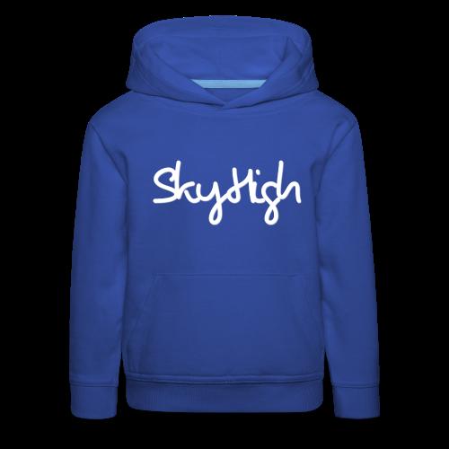 SkyHigh - Men's Premium Hoodie - White Lettering - Kids' Premium Hoodie