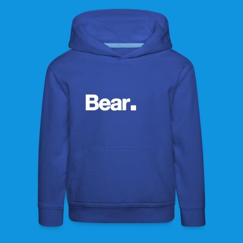 Bear. Retro Bag - Kids' Premium Hoodie