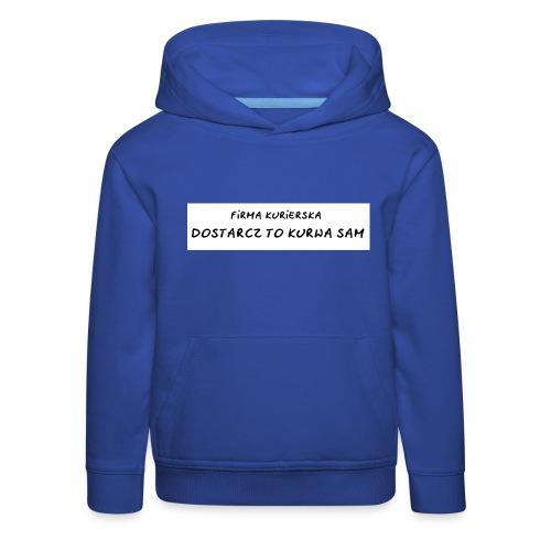 firma kurierska tyl - Bluza dziecięca z kapturem Premium