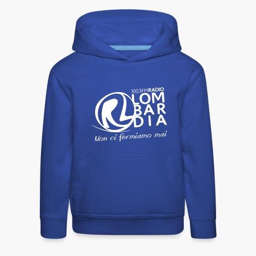 Uomo - Maglietta - Logo Bianco - Felpa con cappuccio Premium per bambini