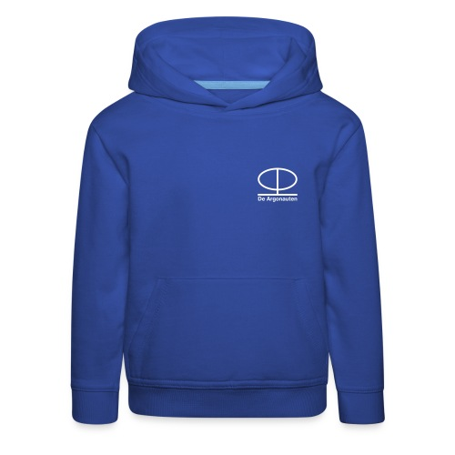 Simpel logo front en logo back - Kinderen trui Premium met capuchon
