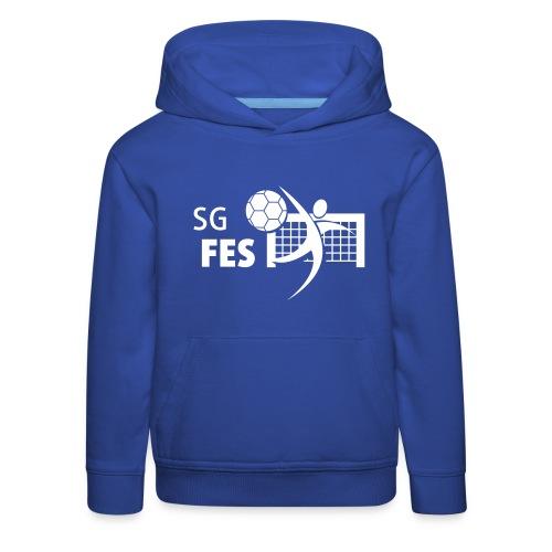 fes logo weiss druck 16mm - Kinder Premium Hoodie