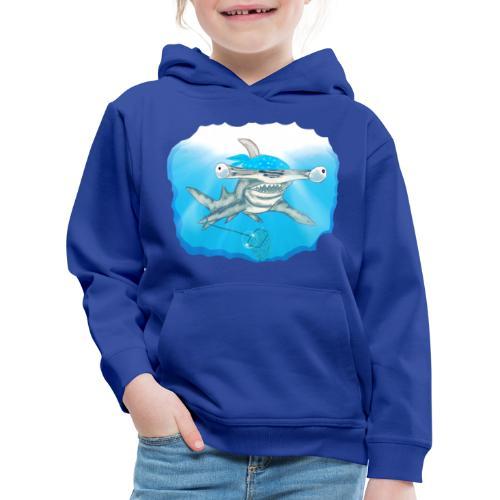 Hunting hammer fish design print - Kids' Premium Hoodie