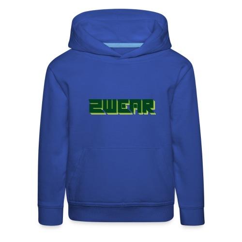 2wear green box logo - Premium hættetrøje til børn
