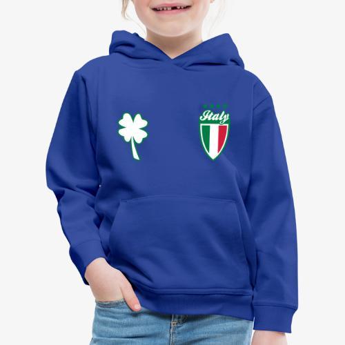Italia Scudo e trifoglio - Felpa con cappuccio Premium per bambini