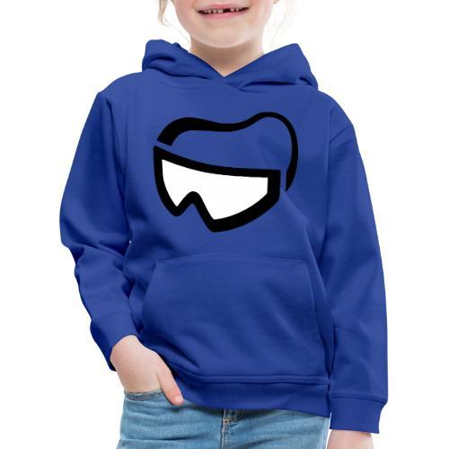 cool ski bril goggles design - Kinderen trui Premium met capuchon