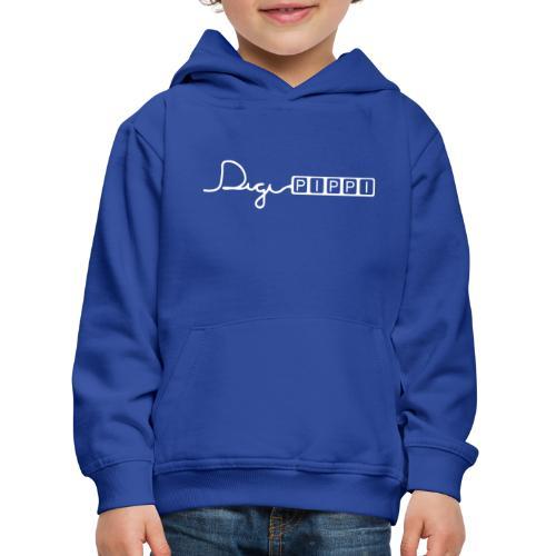 DP Logo White - Premium hættetrøje til børn