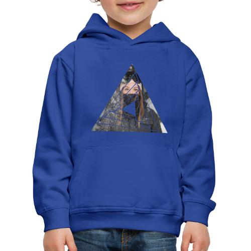 Snow Girl Triangle Graphic Design - Kinder Premium Hoodie
