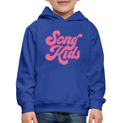 SongKids logo pink png - Kids' Premium Hoodie