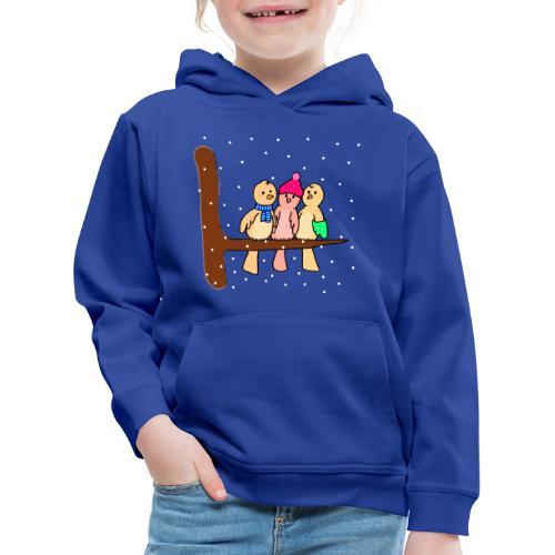 Voeglein im Winter - Kinder Premium Hoodie