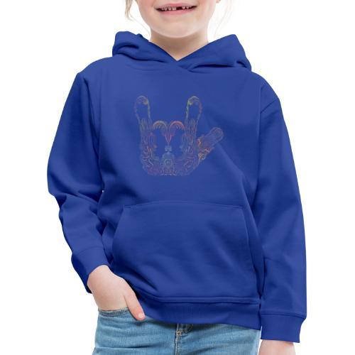 ILY Handzeichen Mandala - Kinder Premium Hoodie
