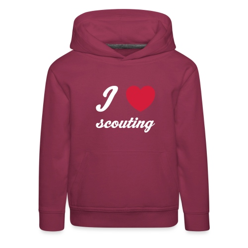 I love scouting - Kids' Premium Hoodie