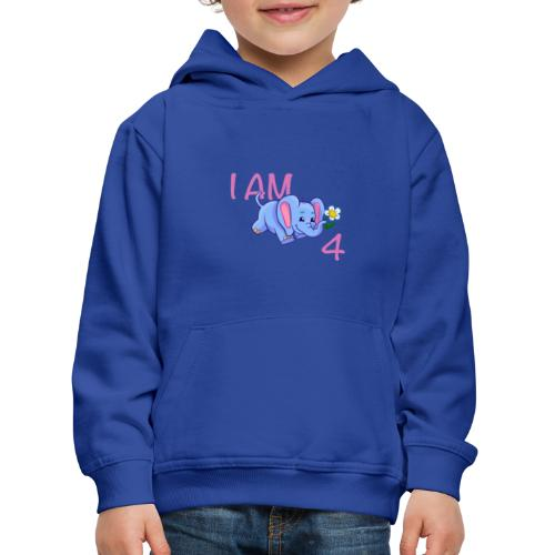 I am 4 - elephant pink - Kids' Premium Hoodie