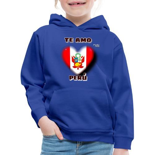 Te Amo Perú Corazón - Sudadera con capucha premium niño