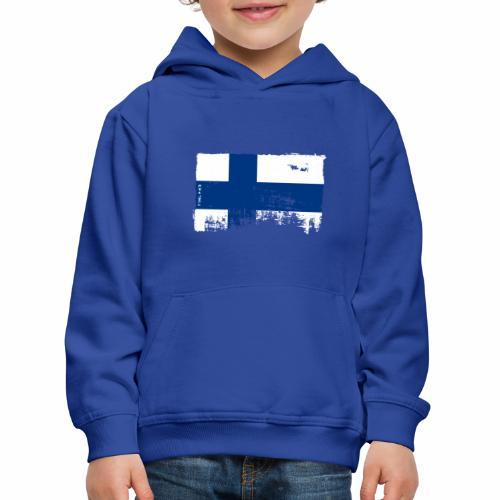 Suomen lippu, Finnish flag T-shirts 151 Products - Lasten premium huppari