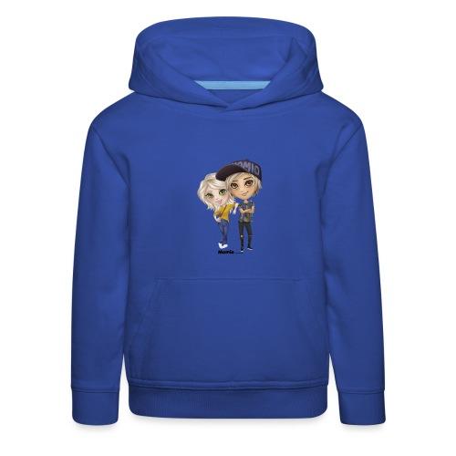 Emily i Lucas - Bluza dziecięca z kapturem Premium