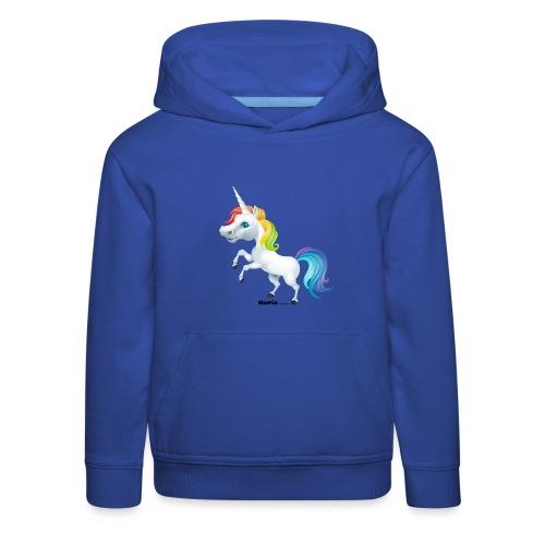 Tęczowy jednorożec - Bluza dziecięca z kapturem Premium