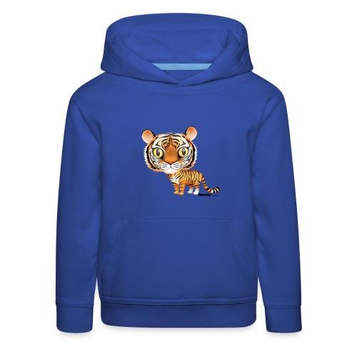 Tygrys - Bluza dziecięca z kapturem Premium