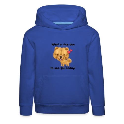 Miły dzień przez Niszczacy - Bluza dziecięca z kapturem Premium