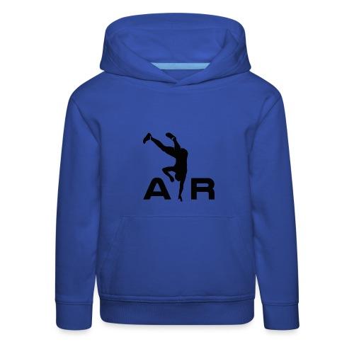 logo AiR6Team noir - Pull à capuche Premium Enfant